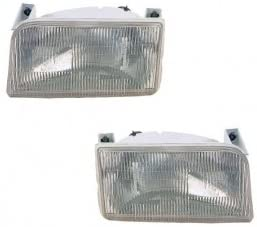National RV Sea View 1998-2001 RV Motorhome Pair (Left & Right) Replacement Front Headlights with Bulbs