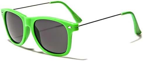 Colorful Neon Frame Retro Fashion Sunglasses - Metal Wire Arms