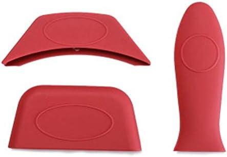 Mini Größe leichte, tragbare weiche Silikon-Hot-Handgriff-Halter Potholders (3pcs / set) for Gusseisen Skillets Pfannen Bratpfanne Bratpfannen Metall und Aluminium Kochgeschirr Griffe Sleeve Grip Hand