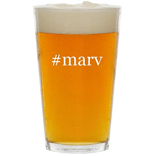 #marv - Glass Hashtag 16oz Beer Pint]()