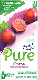 Crystal Light On The Go Pure Grape, 7-Count Boxes (Pack of 4) ()