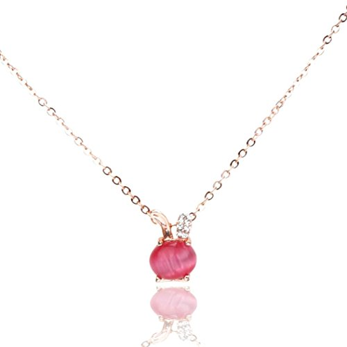 Sparkling Wishbone Necklace (Necklace, Hatop Fashion Women GOpal Short Necklace Micro Pave Bunnies Pendant (Hot)