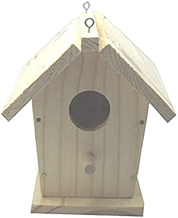 "Natural Wood Manhattan Birdhouse-12/""X5.5/""X5.5/"""