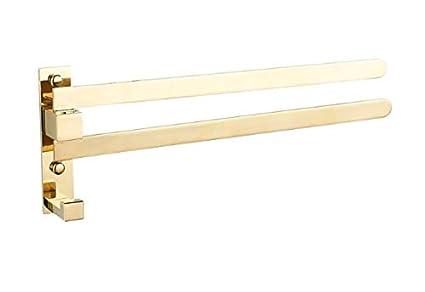 Amazon.com: TACCY - Toallero giratorio de latón con 2 brazos ...