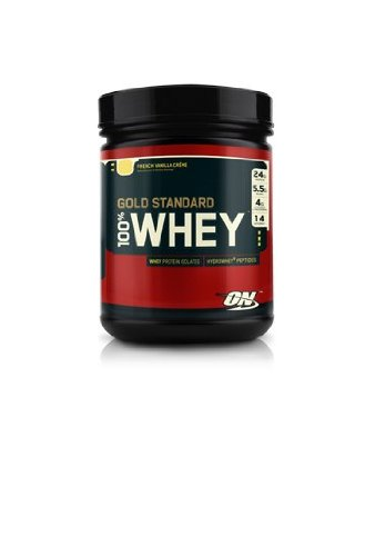 Optimum Nutrition 100% Whey Protein, Vanilla Ice Cream, 1 Pound (Pack of 2)