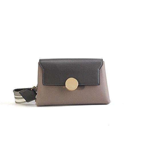Gray Leather XDDB Color Fight Broadband Large Messenger Handbag Fashion Bag Joker A6PqwF