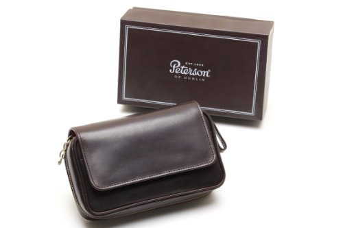 Peterson Deluxe Leather 2 Pipe Pouch by Peterson