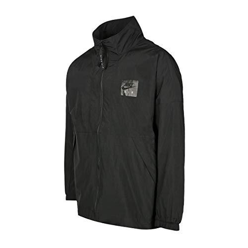 NIKE Men's NSW Windbreaker Varsity Air Woven Jacket 886056-010 Black (L, 886056-010) (Black, XL)