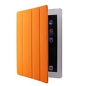 xiao Sleep/Wake-up enabled Leather Case for iPad 2 (Orange)
