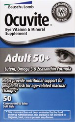 Bausch & Lomb Ocuvite Eye Vitamin & Mineral Supplement, Adult 50+, Soft Gels, 50 ct.