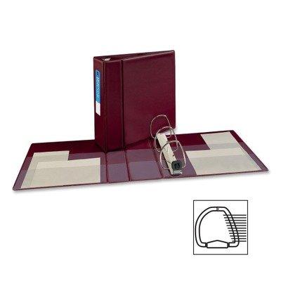 Averyamp;reg; Heavy-Duty Vinyl EZD Ring Reference Binder, 4in Capacity, Maroon