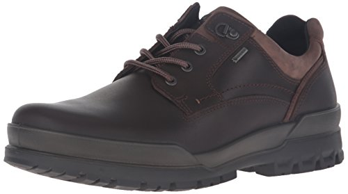 ECCO Men's Track 6 Gore-Tex Plain Toe Low Oxford, Coffee, 48 EU/14-14.5 M US ()