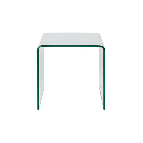 Euro Style 38734TG Gianna Side Table, Clear Tempered glass (Euro Style Glass Desk)