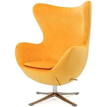 Amazon Com Arne Jacobsen Egg Chair Black Home Amp Kitchen