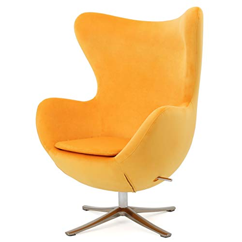 Christopher Knight Home 299468 Glendon Arne Jacobsen Style New Velvet Swivel Contour Egg Chair,...