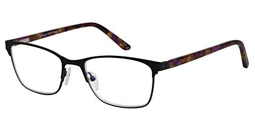 SightLine Faith Multifocal Women's Progressive Reading Glasses (2.00, Black)