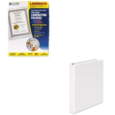 KITCLI65187UNV20962 - Value Kit - C-line Quick Cover Laminating Folders (CLI65187) and Universal Round Ring Economy Vinyl View Binder (UNV20962) - Quick Cover Laminating Folders