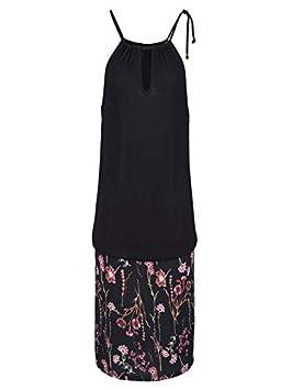 Ba Zha Hei Vestido de Falda con Estampado Halter de Mujer Mujer ...