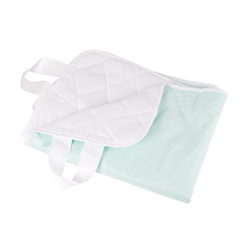 DMI Incontinence Pad, Reusable Bed Pad with Straps, Quilted Bed Pad For Incontinence with Waterproof layer, 4 Ply, 28 x 36 Inches, Green