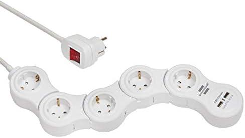 Prolongateur multiprise Vario Power avec prises chargeur USB