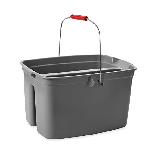 Rubbermaid Commercial Double Pail Plastic Bucket, 19 Quart, Gray, - Quart Pail Double