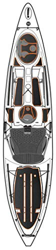 Wilderness Systems Silent Traction Pad Kit - Tarpon 120, Thick, Orange, Charcoal