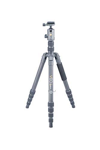 Vanguard VEO2GO265HCB Carbon Fiber Travel Tripod with Ball Head for Sony, Nikon, Canon, Fujifilm Mirrorless, Compact System Camera (CSC), DSLR