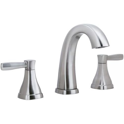 Miseno ML641 Elysa-V Widespread Bathroom Faucet - Includes Push-Pop Drain Assembly, Brushed Nickel (Spout Assembly Widespread)