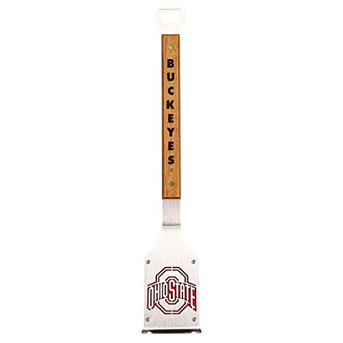 Products Sportula NCAA BBQ Grill Accessories 3-in-1 Brush, Scraper, Bottle Opener (Ohio State Buckeyes)