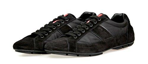 Prada Menns 4e2854 Skinn Sneaker