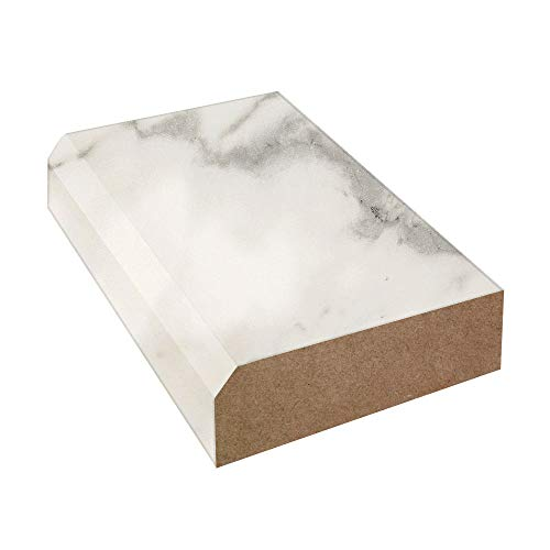 Bevel Edge Laminate Countertop Trim: Calacatta Marble