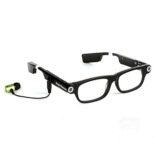 Half-moon 5MP Lens 720P Bluetooth Headset Video Recording Glasses Camera Hands Free MP3 Outdoor Sports Card Dial Answer Call Wide Angle Teaching Training Eyeglasses Camera with Fully Certifications