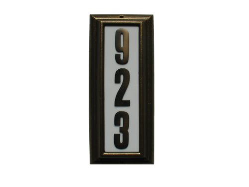(QualArc LTV-1303FB Edgewood Vertical Lighted Address Plaque in French Bronze )