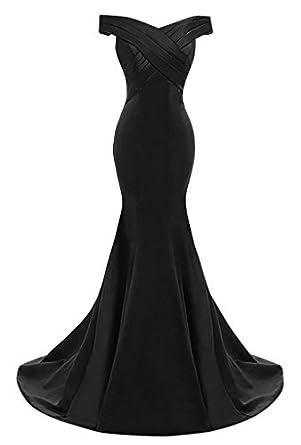 DINGZAN Vintage Off Shoulder Mermaid Satin Bridesmaid Dresses for ...