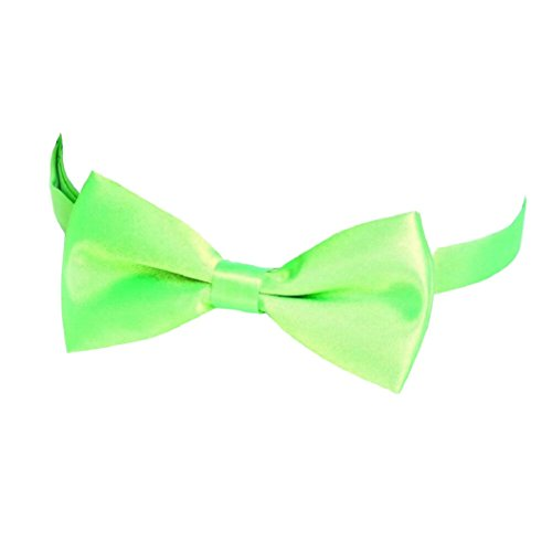 Tie Pre Suits Green Plain Bow Tie Men's Tied Fashion Livecity Bowtie Polyester Wedding Apple wfPU1OqOX