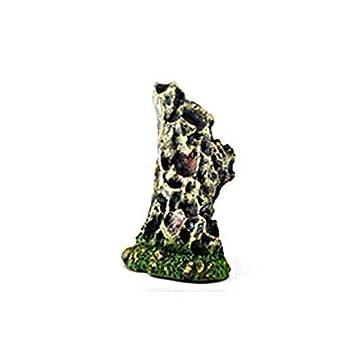 8,5 x 8,5 x 11,5 cm Paisaje pecera Gris MSYOU Adornos para Acuario roc/ío o Cueva decoraci/ón de Resina