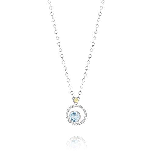 Tacori SN14002 Island Rains Sterling Silver Sky Blue Topaz Bloom Necklace, 18