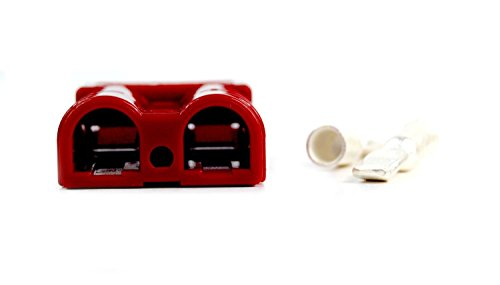8 Gauge Power Ground Quick Disconnect Battery Trailer Jumper Red SB50-10 PCS by Install Bay (Image #4)