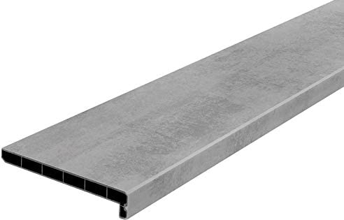 Seitenabschl/üsse Fensterbank Lignodur Topline LD36 Innenfensterbank beton grau 100 mm Ausladung inkl 500 mm