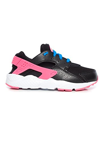 Nike Huarache Run (Ps), Zapatillas de Deporte para Niñas Negro / Verde / Rosa / Azul (Black / Volt-Pink Pow-Photo Blue)