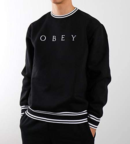 Obey Sweatshirt ohne Kapuze Warp Crew Fleece Black Multi