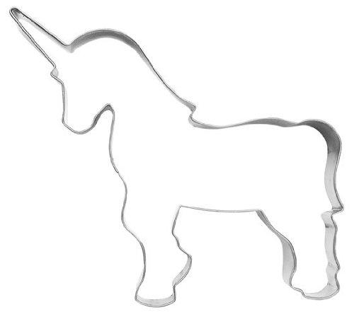 Moldes para galletas con forma de unicornio, 11 cm, acero inoxidable: Amazon.es: Juguetes y juegos