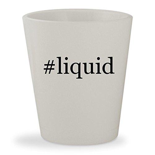 Liquid   White Hashtag Ceramic 1 5Oz Shot Glass