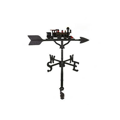 Montague Metal Products 32-Inch Weathervane with Color Train Ornament (Train Lawn Ornament)