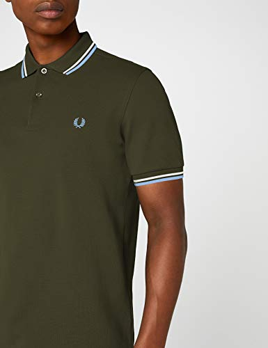 Para Sky Shirt Multicolor Hombre Twin Snow Blue D65 Fred Perry dark Tipped White Polo Fern wCnZX7