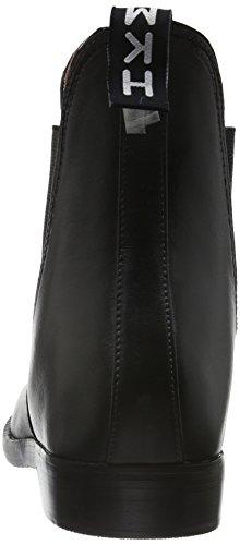 HKM Jodhpur–Botas de goma soft/amplio–con elástico negro