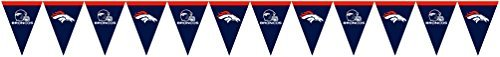 Creative Converting Officially Licensed NFL Plastic Flag Banner, 12', Denver Cowboys]()