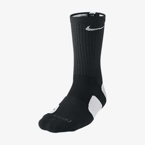Nike Mens Elite Cushioned Crew Socks Large (shoe size 8-12) (Black)