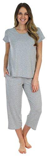 Sleepyheads Women's Lightweight Sleepwear Tee & Capri Pajama PJ Set (SH1831-2027-SML)