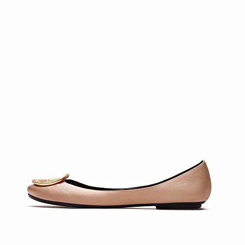 Profonde avec Bouche Et des Printemps CWJ de Chaussures Peu Ballet Plates Chaussures Été B Chaussures Plates qXwa4
